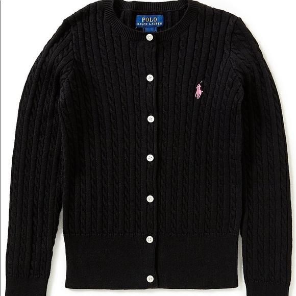 209134804ea56 Ralph Lauren Shirts & Tops   Large Cardigan Sweater Girls 1214 ...